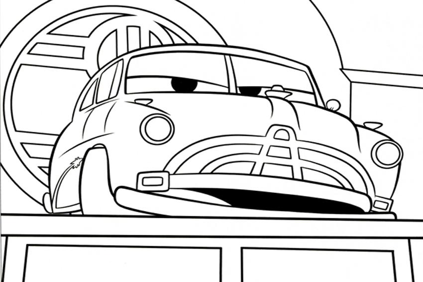 Cars Mack Lightning Mcqueen Coloring